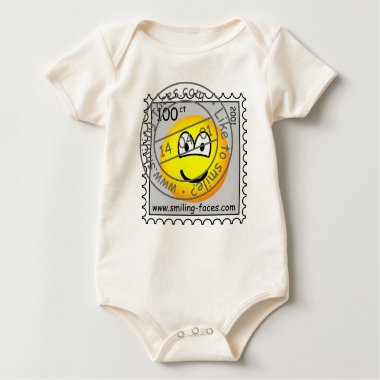 Stamped stamp emoticon   baby_toddler_apparel_tshirt