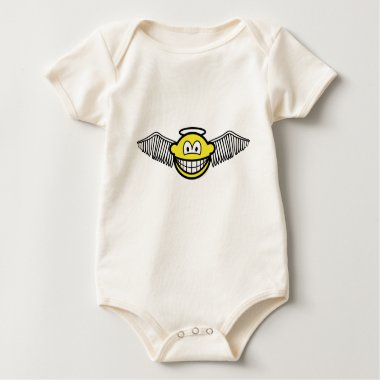 Winged angel with halo smile   baby_toddler_apparel_tshirt