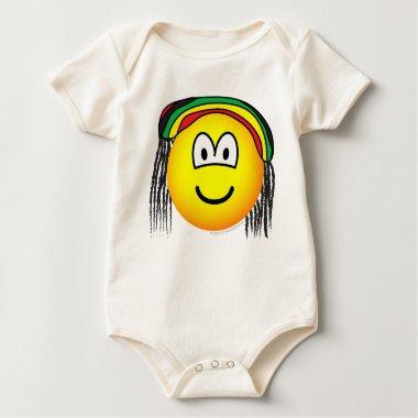 Rasta emoticon   baby_toddler_apparel_tshirt