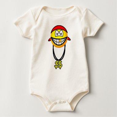 Rapper emoticon   baby_toddler_apparel_tshirt