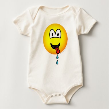 Drooling emoticon   baby_toddler_apparel_tshirt