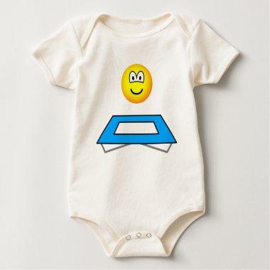 Trampoline emoticon Olympic sport Artistic gymnastics baby_toddler_apparel_tshirt