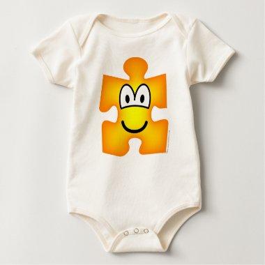 Jigsaw piece emoticon   baby_toddler_apparel_tshirt