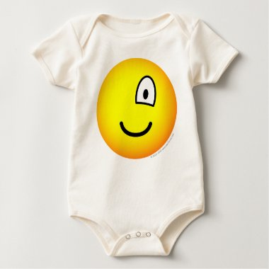 One eyed emoticon right  baby_toddler_apparel_tshirt