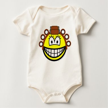 Curling smile Permed  baby_toddler_apparel_tshirt
