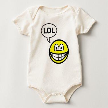 LOL smile  laugh(ing) out loud baby_toddler_apparel_tshirt