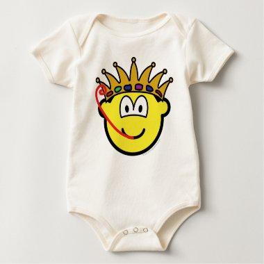 Frog king buddy icon   baby_toddler_apparel_tshirt