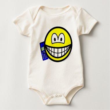 Mobile phoning smile   baby_toddler_apparel_tshirt