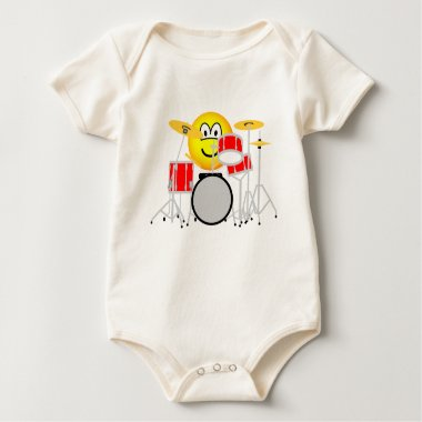 Drumming emoticon Drum kit  baby_toddler_apparel_tshirt