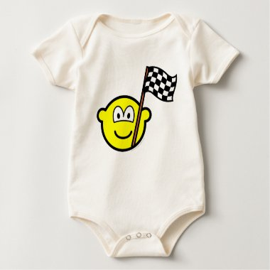Checkered flag buddy icon   baby_toddler_apparel_tshirt