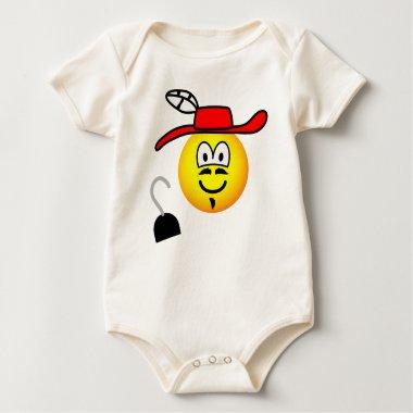 Captain hook emoticon Peter Pan  baby_toddler_apparel_tshirt