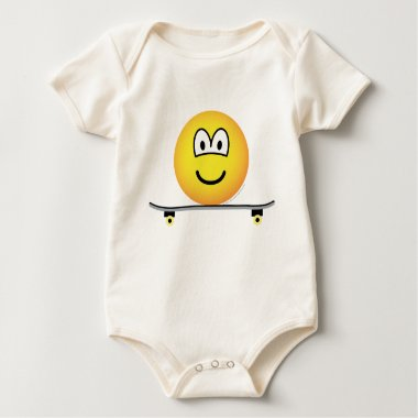 Skateboarding emoticon   baby_toddler_apparel_tshirt