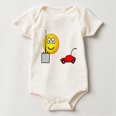 Afstandsbestuurbare auto emoticon   baby_toddler_apparel_tshirt