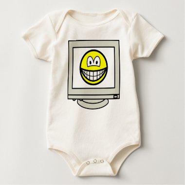 Computer screen smile   baby_toddler_apparel_tshirt