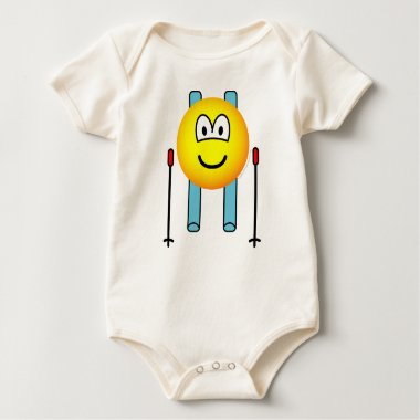 Skiing emoticon   baby_toddler_apparel_tshirt