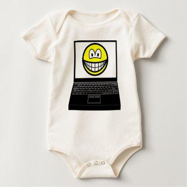 Laptop smile   baby_toddler_apparel_tshirt