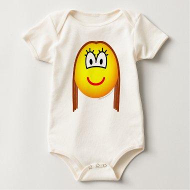 Brunette emoticon   baby_toddler_apparel_tshirt