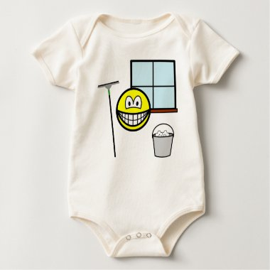 Window cleaner smile   baby_toddler_apparel_tshirt