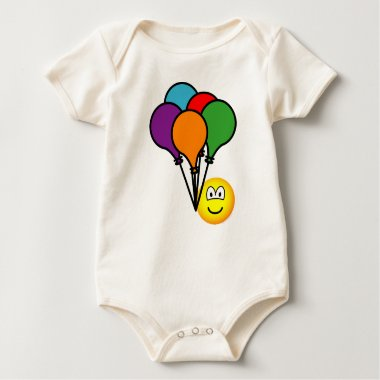 Party balloons emoticon   baby_toddler_apparel_tshirt