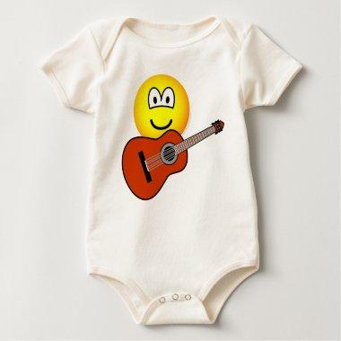 Acoustic guitar emoticon   baby_toddler_apparel_tshirt