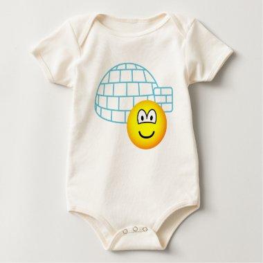 Igloo emoticon Building  baby_toddler_apparel_tshirt