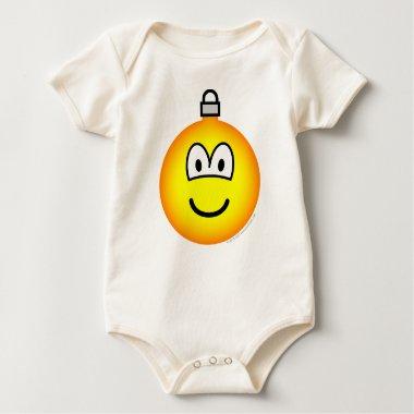 Christmas ball emoticon   baby_toddler_apparel_tshirt