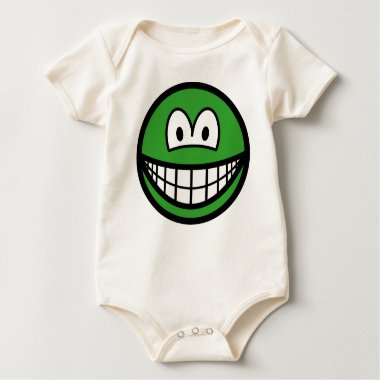 Colored smile green  baby_toddler_apparel_tshirt