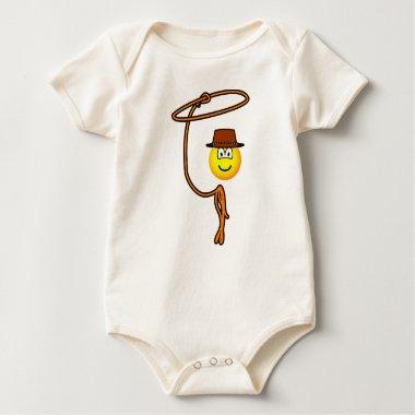 Cowboy lasso emoticon   baby_toddler_apparel_tshirt