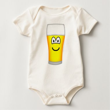 Beer glass emoticon   baby_toddler_apparel_tshirt