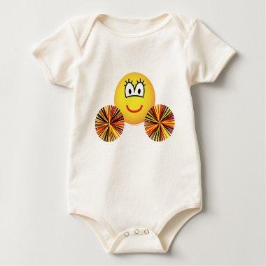 Cheerleader emoticon   baby_toddler_apparel_tshirt