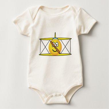 Biplane emoticon   baby_toddler_apparel_tshirt