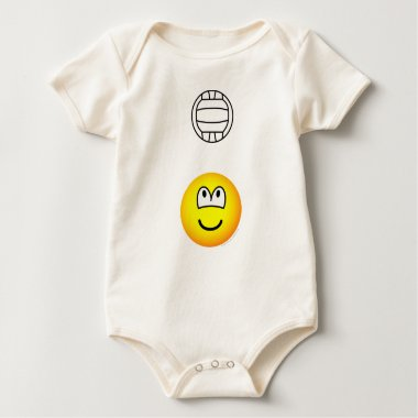 Volleyball playing emoticon   baby_toddler_apparel_tshirt