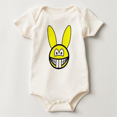 Rabbit smile   baby_toddler_apparel_tshirt