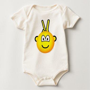 Bunny ears emoticon   baby_toddler_apparel_tshirt