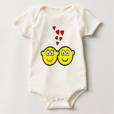 Two Buddy icons in love   baby_toddler_apparel_tshirt