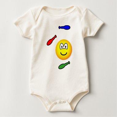 Juggling emoticon   baby_toddler_apparel_tshirt