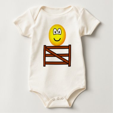 Sitting on the fence emoticon   baby_toddler_apparel_tshirt