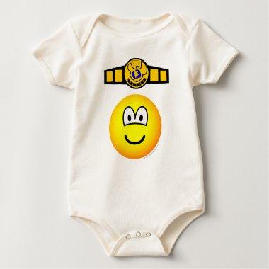 Boxing champion emoticon   baby_toddler_apparel_tshirt