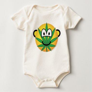Cannabis emoticon   baby_toddler_apparel_tshirt