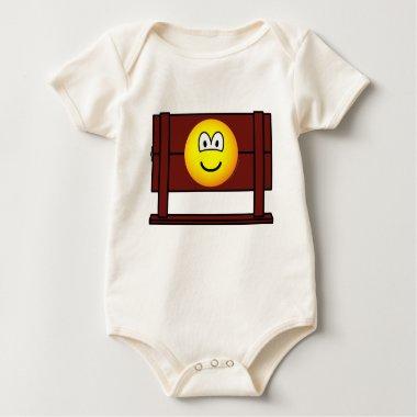 Emoticon in stocks  medieval  baby_toddler_apparel_tshirt