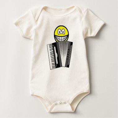 Accordion playing smile   baby_toddler_apparel_tshirt
