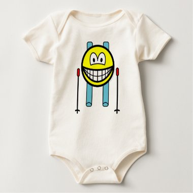 Skiing smile   baby_toddler_apparel_tshirt