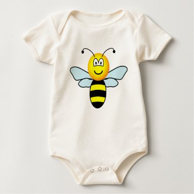 Bumble bee emoticon   baby_toddler_apparel_tshirt