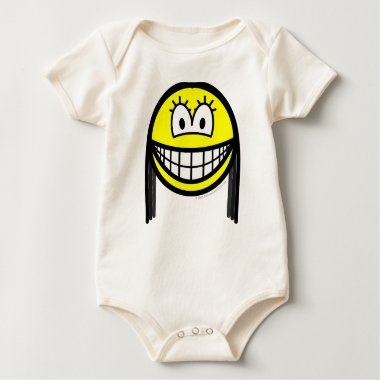 Black haired smile   baby_toddler_apparel_tshirt