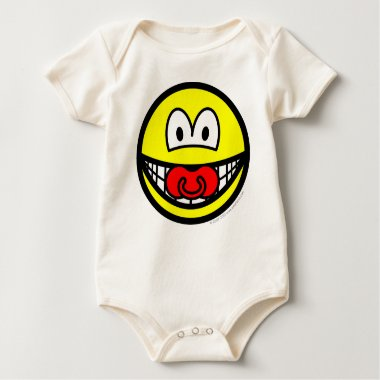 Dummy smile Baby pacifier  baby_toddler_apparel_tshirt