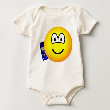 Mobile phoning emoticon   baby_toddler_apparel_tshirt