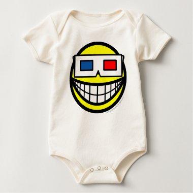 3D glasses smile   baby_toddler_apparel_tshirt