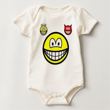 Angel and devil on shoulder smile   baby_toddler_apparel_tshirt