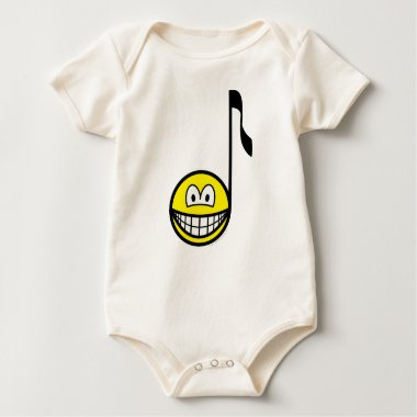 Music note smile   baby_toddler_apparel_tshirt