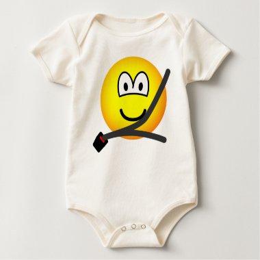 Seat belt emoticon   baby_toddler_apparel_tshirt